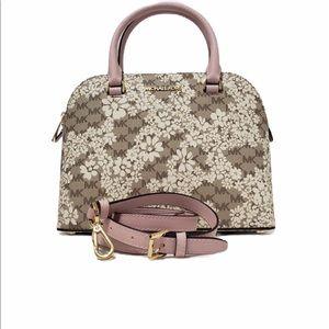 Michael kors Cindy dome floral satchel bag NWT
